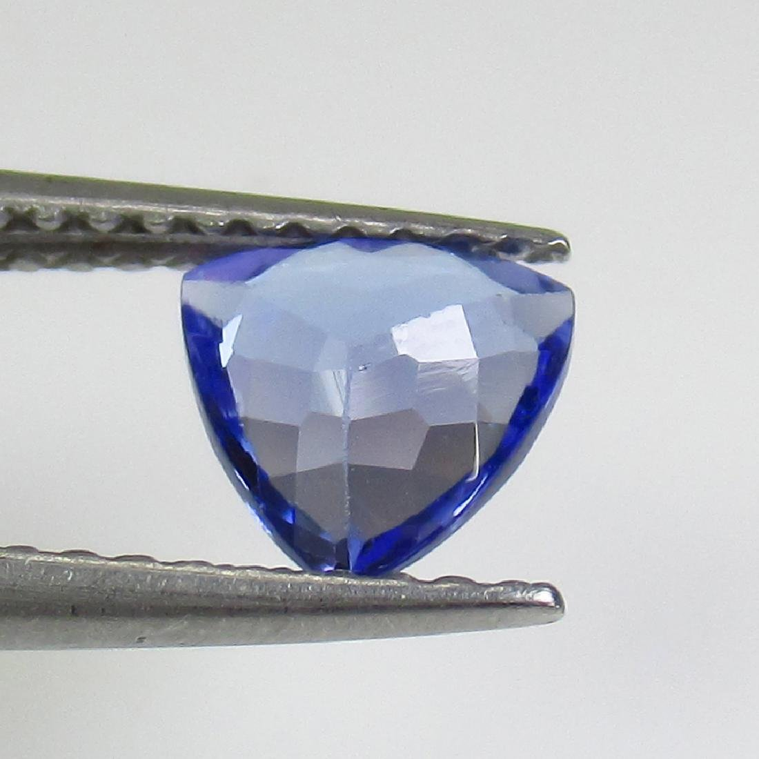 0.68 Ct Genuine Tanzanite 6X6 mm Excellent Trillion Cut - 2