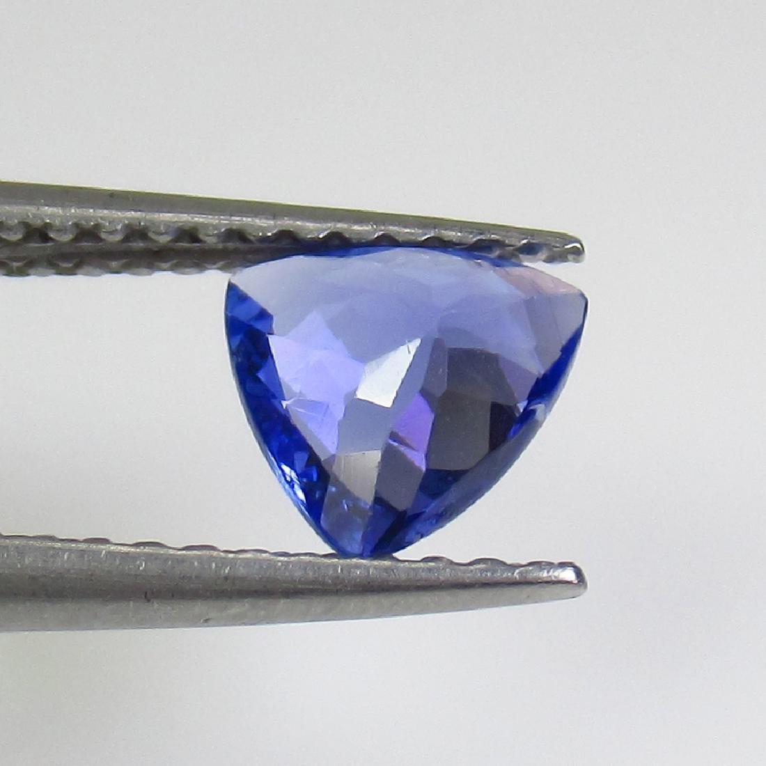 0.67 Ct Genuine Tanzanite 6X6 mm Excellent Trillion Cut - 2