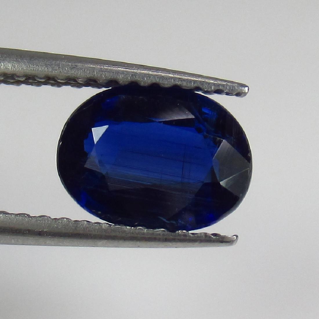 1.30 Ct Genuine Deep Blue Kyanite 8X6 mm Oval Cut