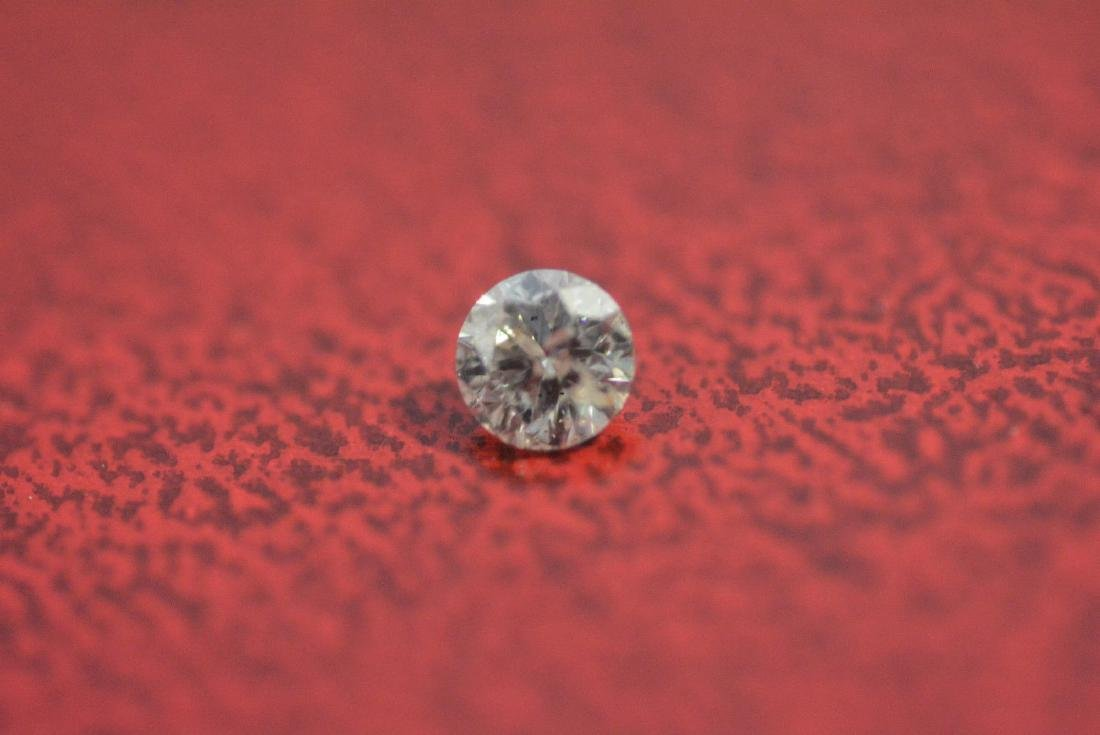 Loose .21 carat ROUND BRILLIANT cut Diamond I1 clarity
