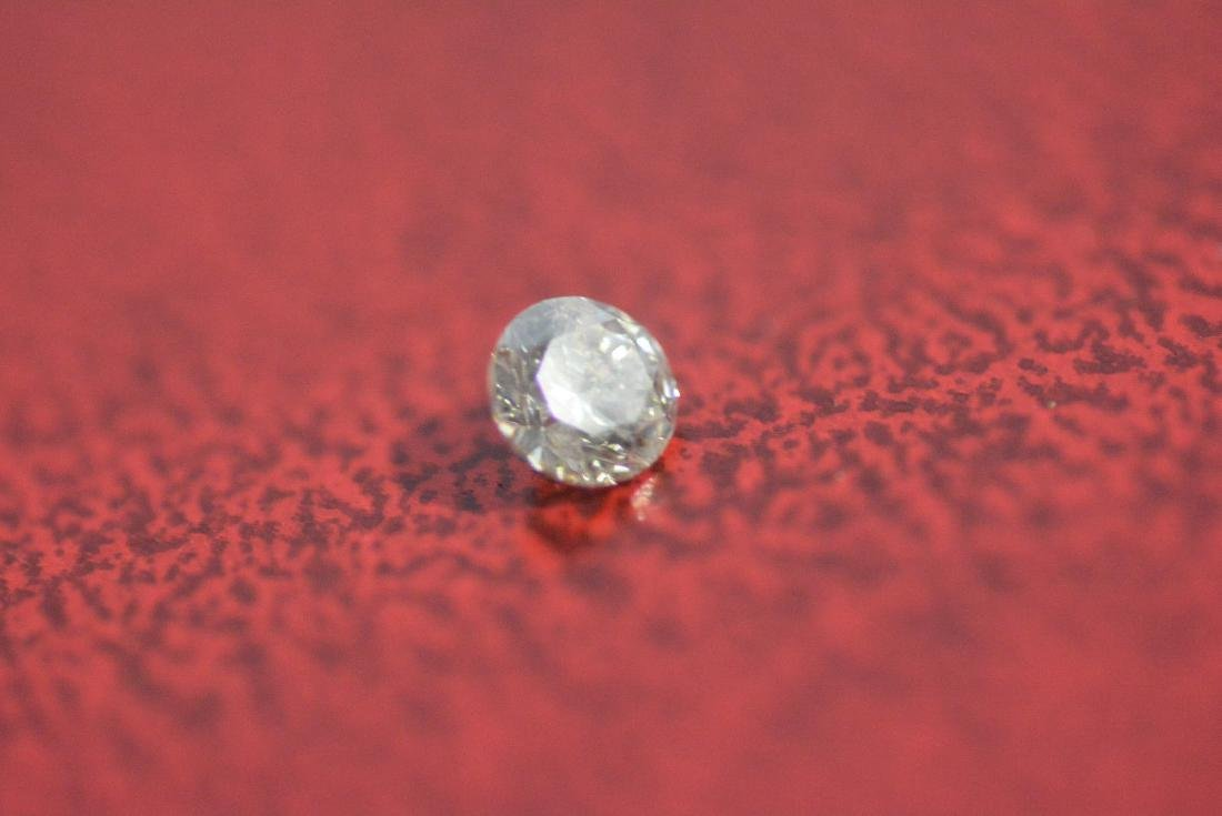 Loose .21 carat ROUND BRILLIANT cut Diamond I1 clarity - 3