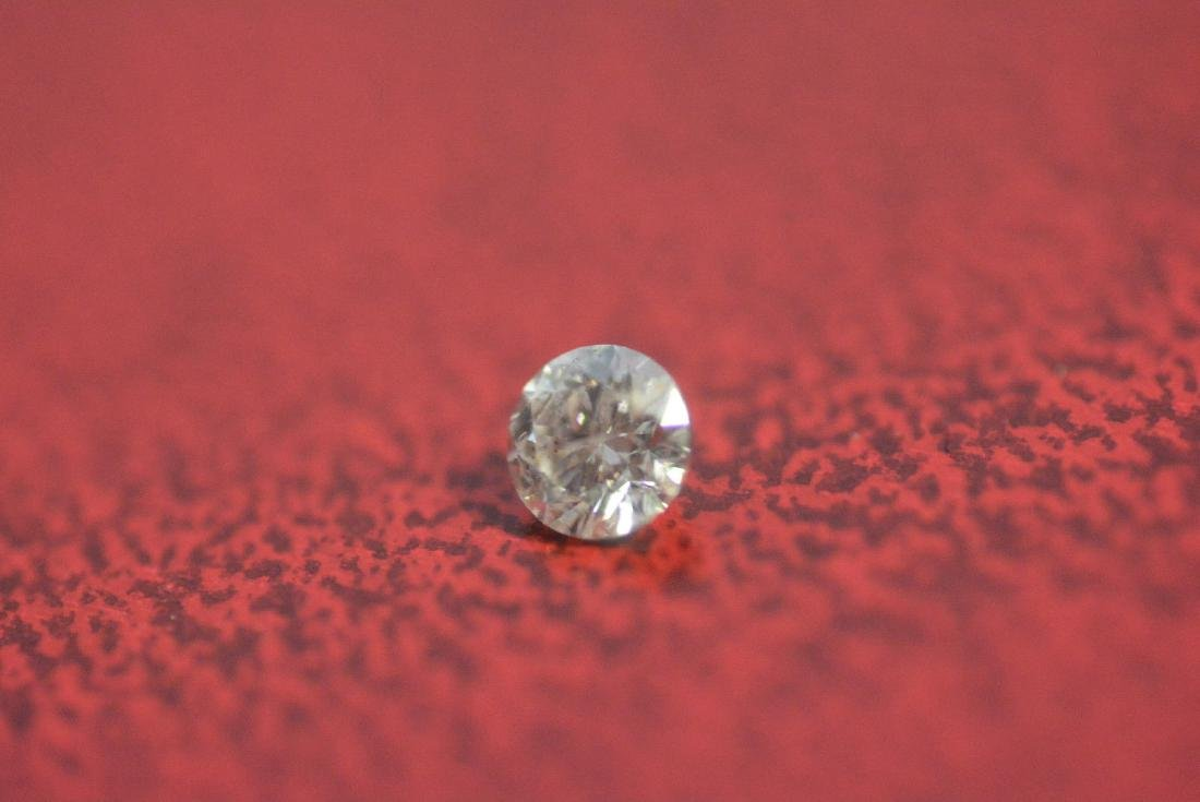 Loose .21 carat ROUND BRILLIANT cut Diamond I1 clarity - 4