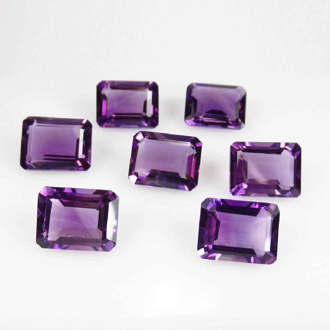 14.85 Ctw Natural Purple Amethyst 9X7 mm Matching