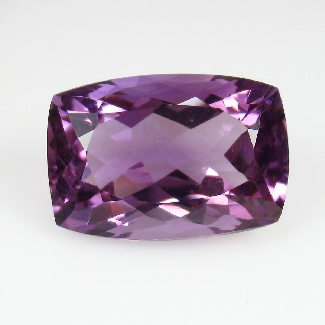10.37 Ctw Natural Purple Amethyst Excellent Cushion Cut