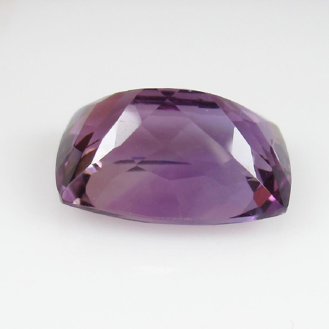10.37 Ctw Natural Purple Amethyst Excellent Cushion Cut - 2