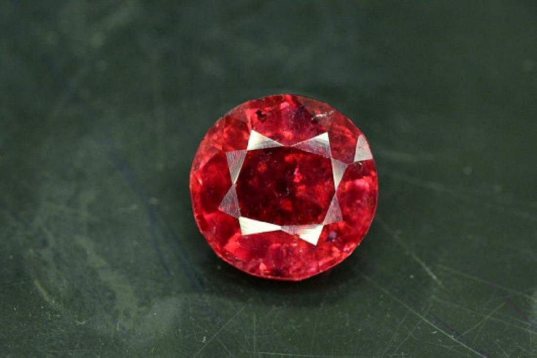 4.50 cts Round Cut Natural Rubelite Tourmaline from - 2