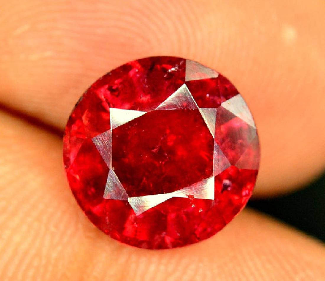 4.50 cts Round Cut Natural Rubelite Tourmaline from - 4