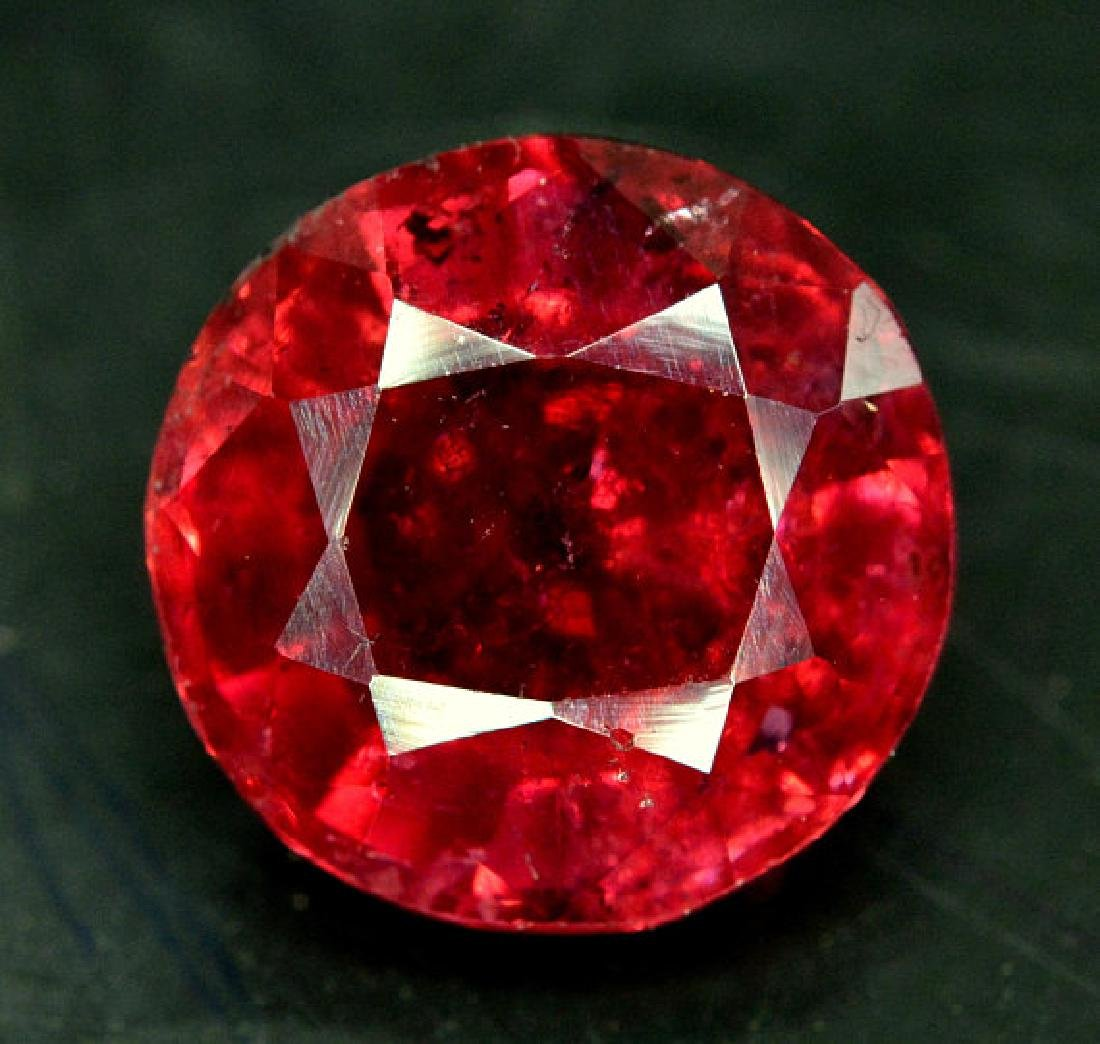 4.50 cts Round Cut Natural Rubelite Tourmaline from - 7
