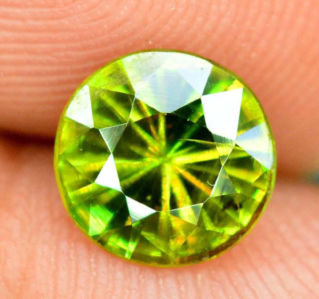 1.0 cts Rare Extreme Full Fire Green Sphene Titanite ~ - 2
