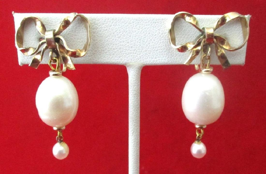 Pair of Vintage Gold Filled & Pearl Screw-Back Wedding
