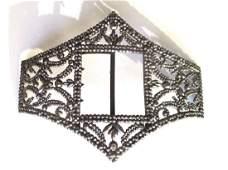 Edwardian Cut Steel Belt Buckle