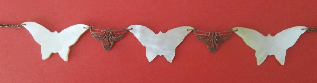 Vintage Mother-of-Pearl Butterfly Choker/Necklace - 6