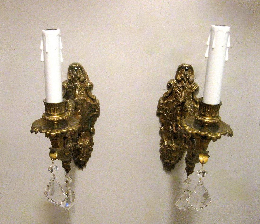 Pair of Antique Mid-19th Century French Bronze Wired - 2