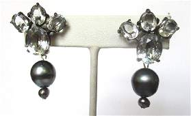 Pair of Vintage Sterling Silver Screw-Back Earrings