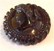 Antique Whitby Jet Brooch