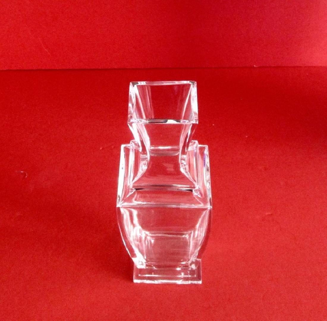 Baccarat 10 1/4 - Inch Lead Crystal Vase in Pristine - 3