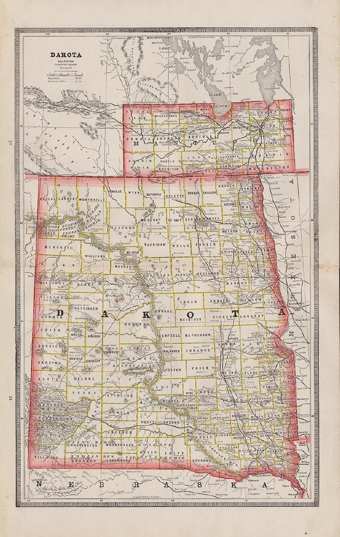 Scarce 1882 Dakota, George F. Cram