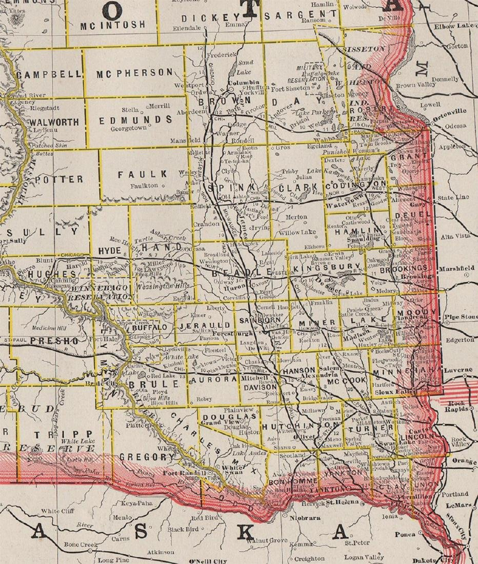 Scarce 1882 Dakota, George F. Cram - 2