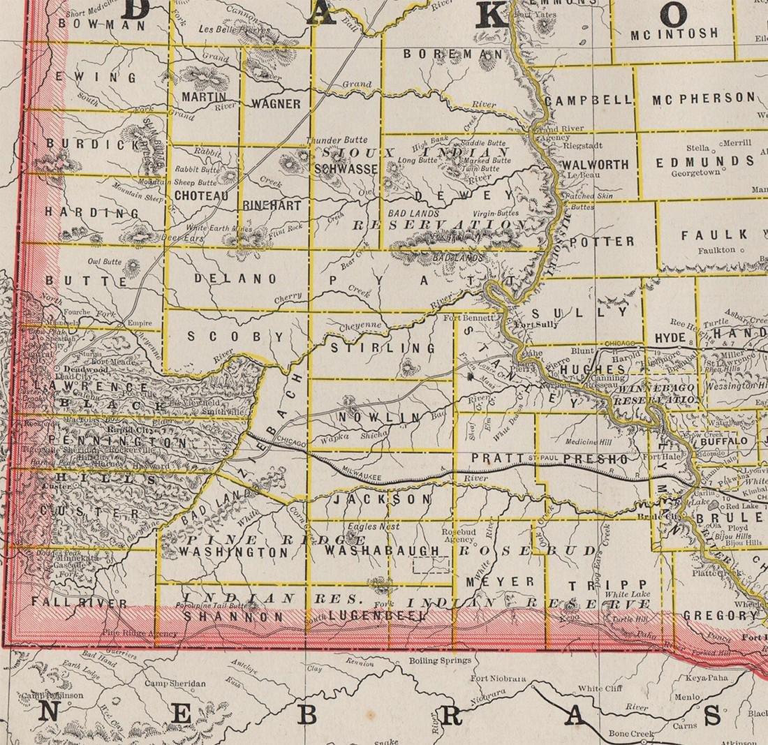 Scarce 1882 Dakota, George F. Cram - 3