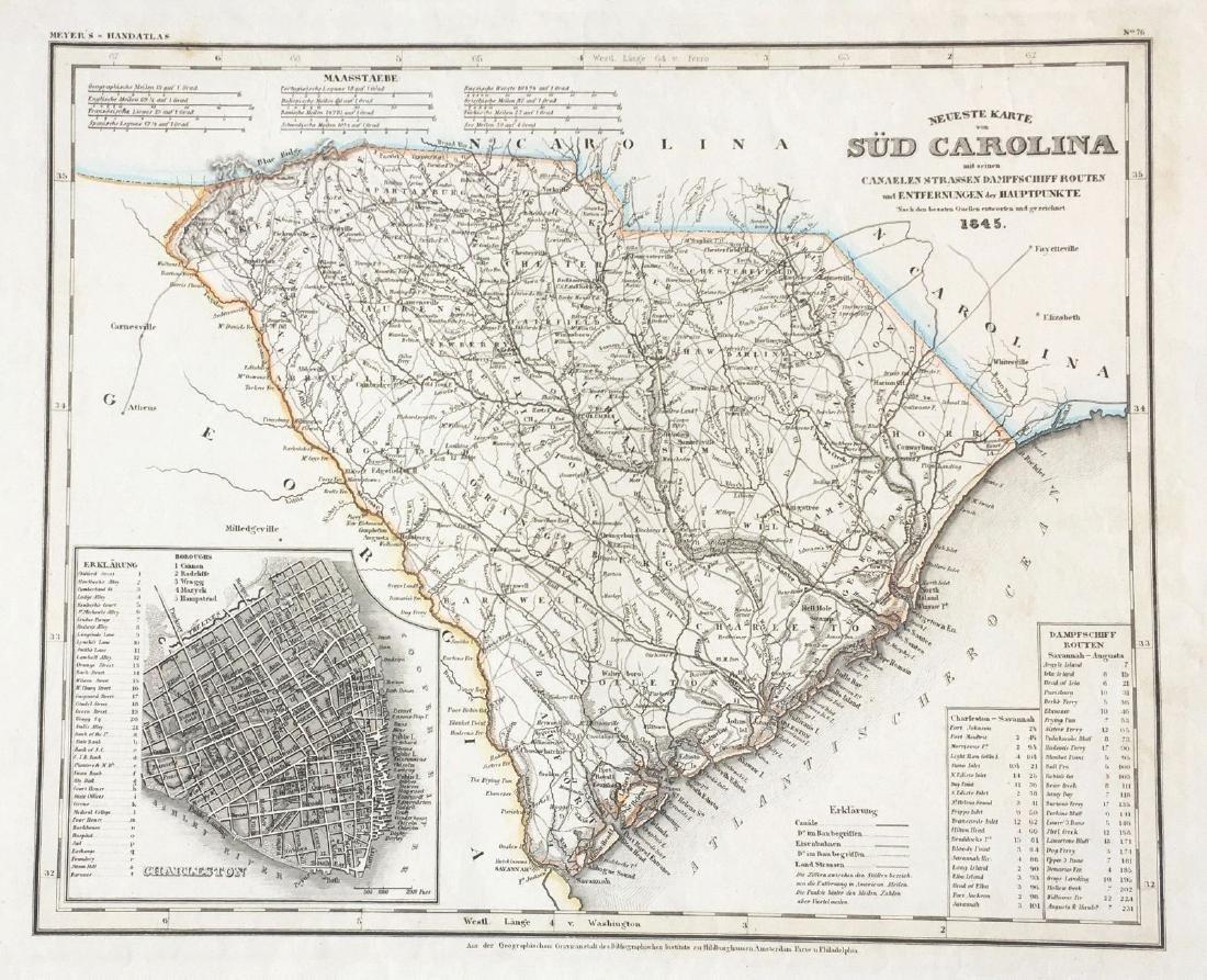 Meyer: South Carolina with Charleston Inset