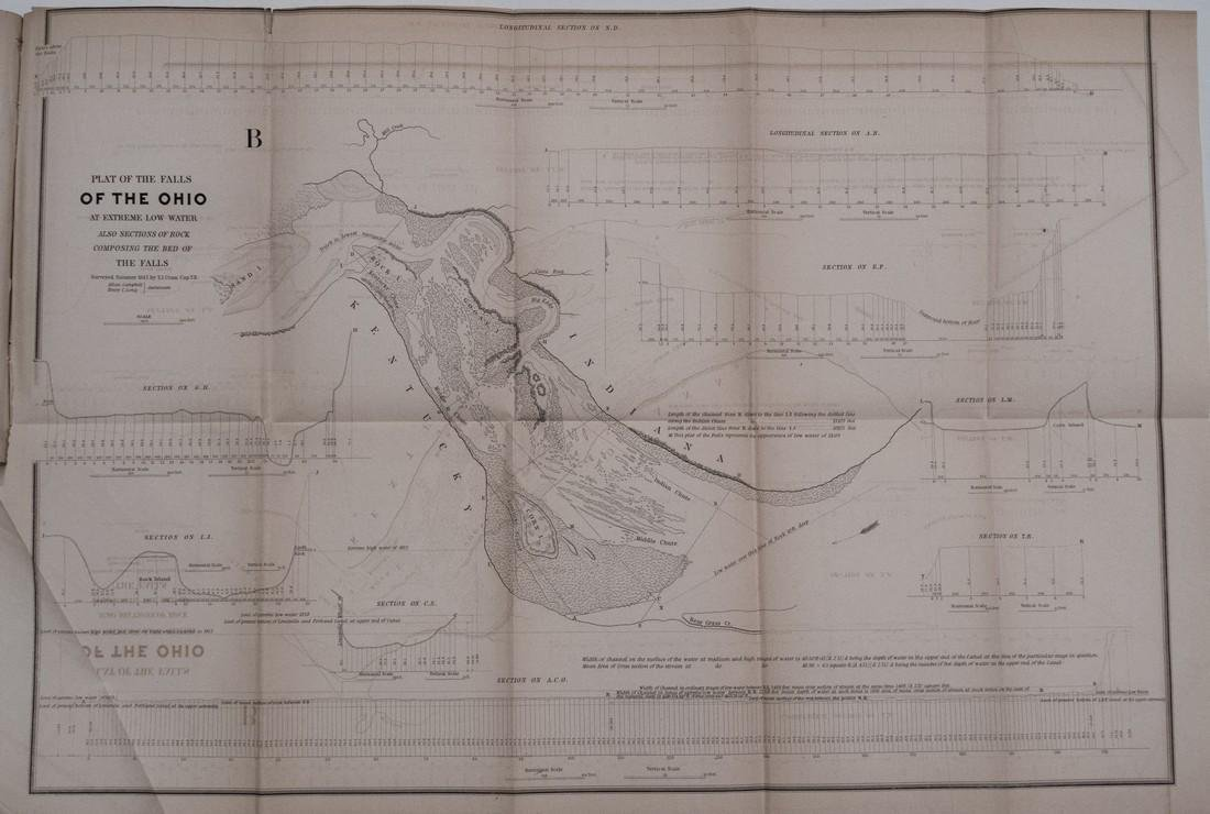 1844 Plans/Maps of the Ohio River at Louisville --