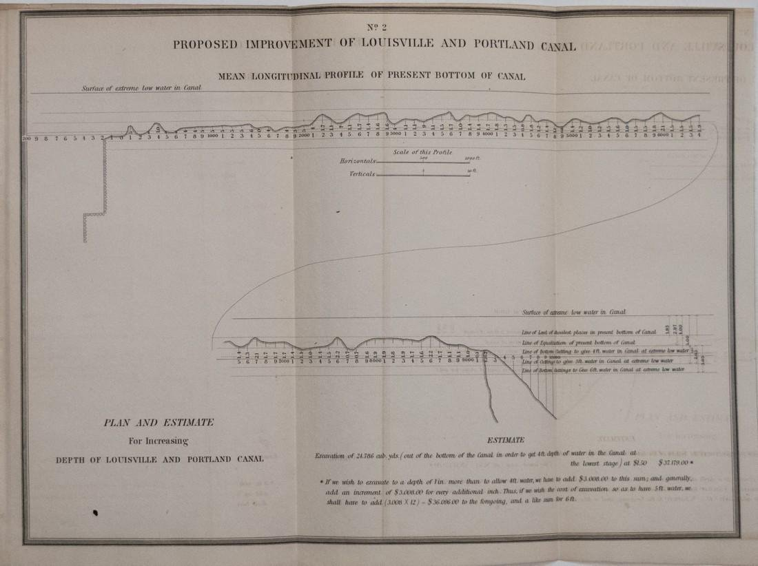 1844 Plans/Maps of the Ohio River at Louisville -- - 2