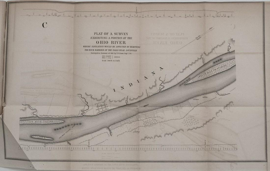 1844 Plans/Maps of the Ohio River at Louisville -- - 4