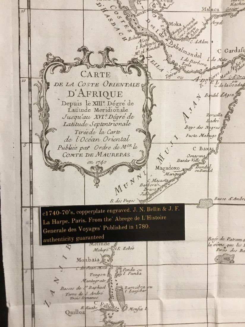 Eastern coast of Africa. Somali coast. 1740's-70's by - 2