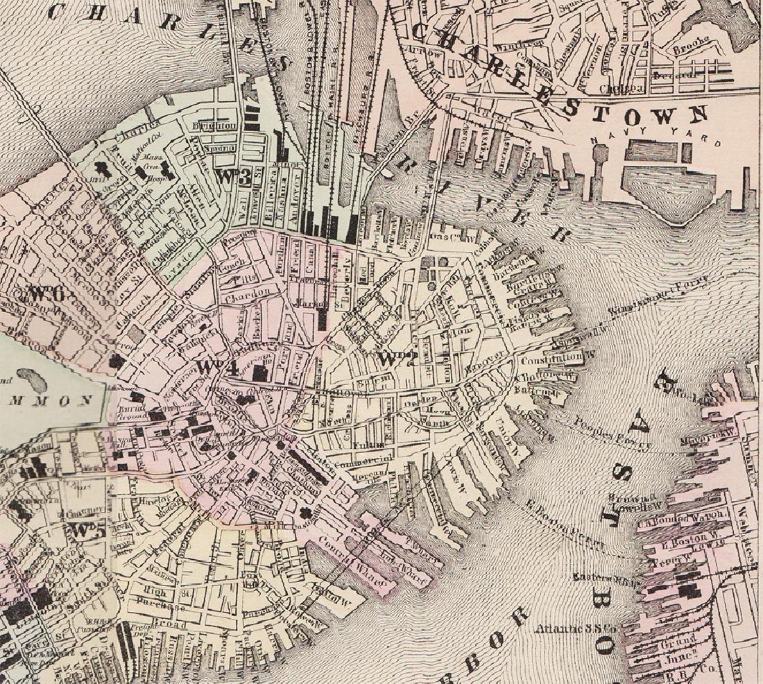 2-pg. Plan of Boston, Mitchell 1872 - 2