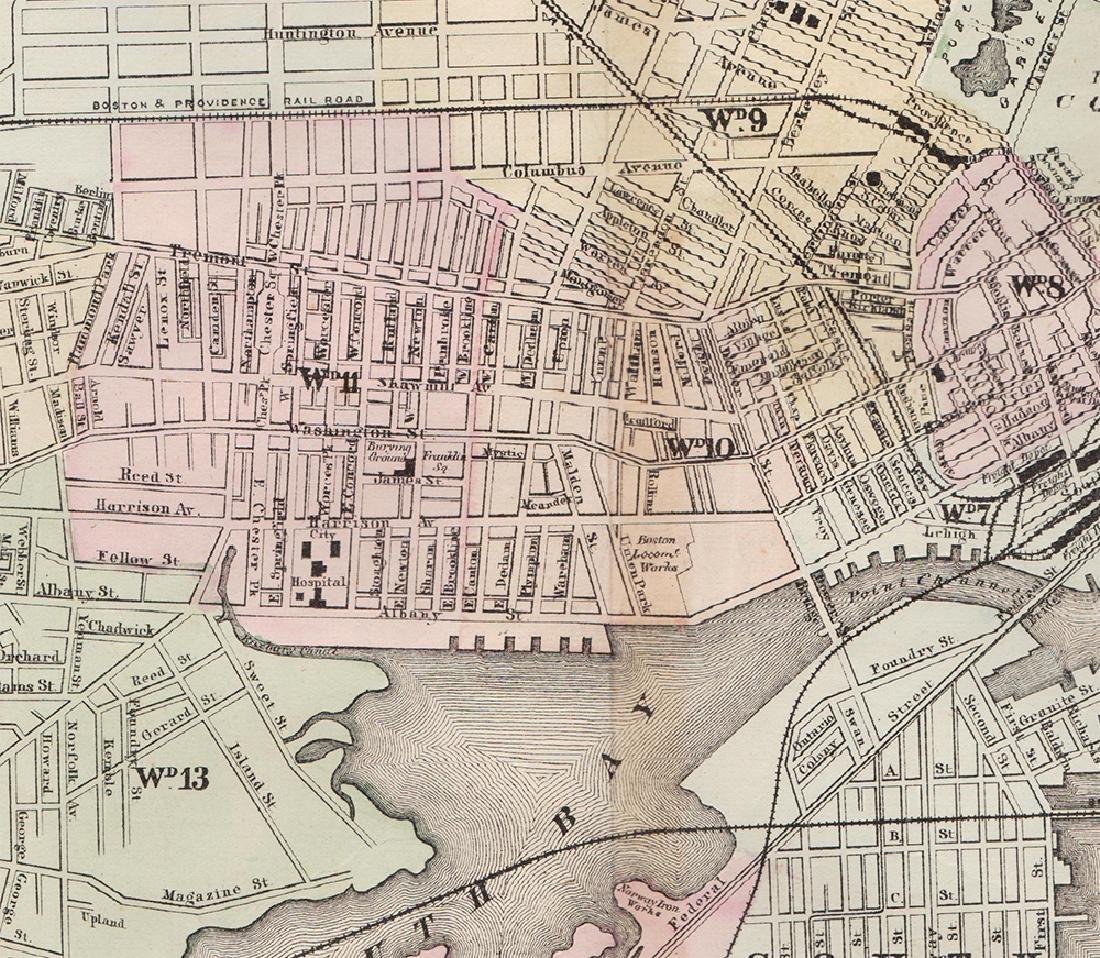 2-pg. Plan of Boston, Mitchell 1872 - 3