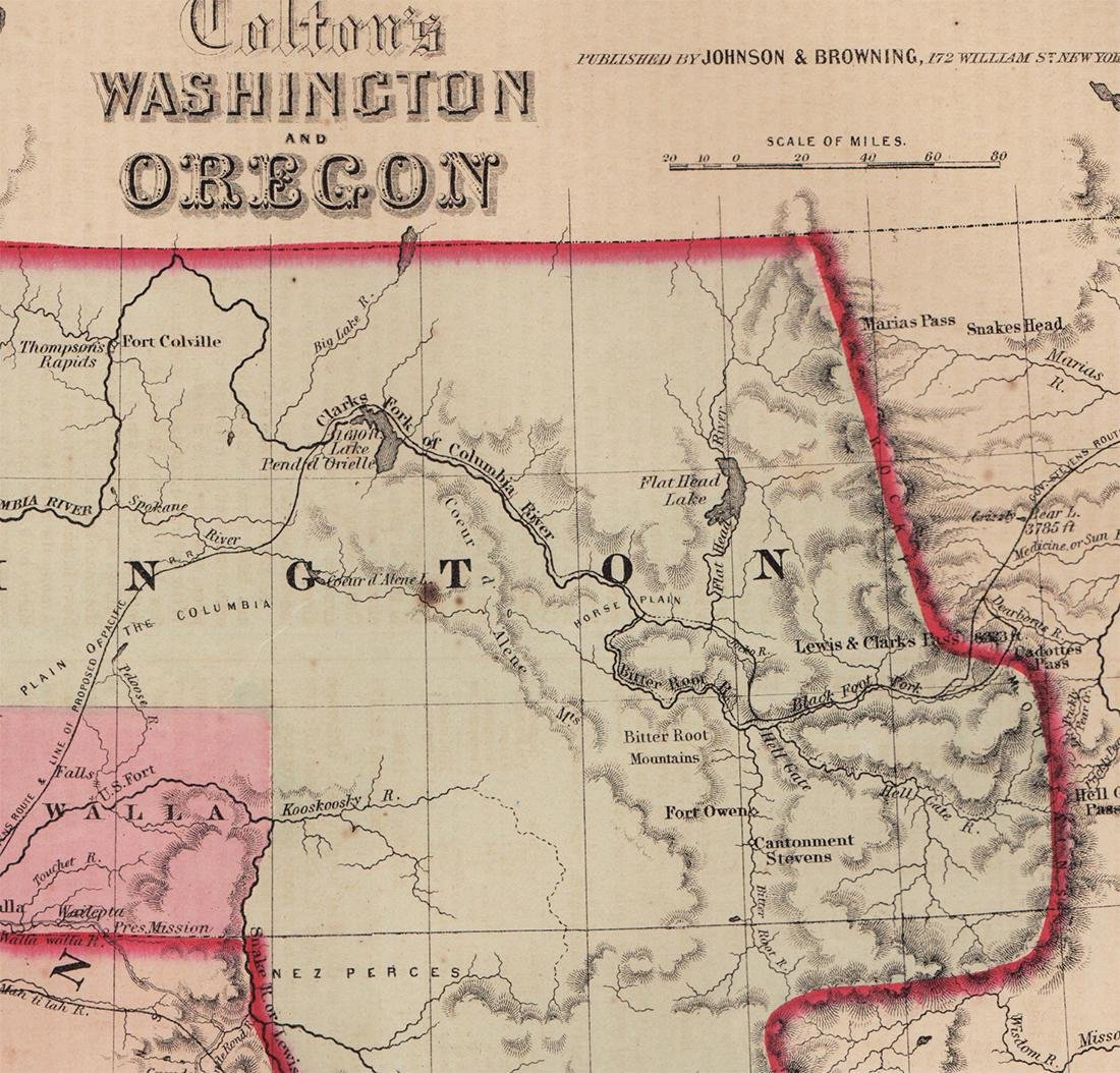 Scarce 1853 map from Colton's 1856 Atlas of the World - 3