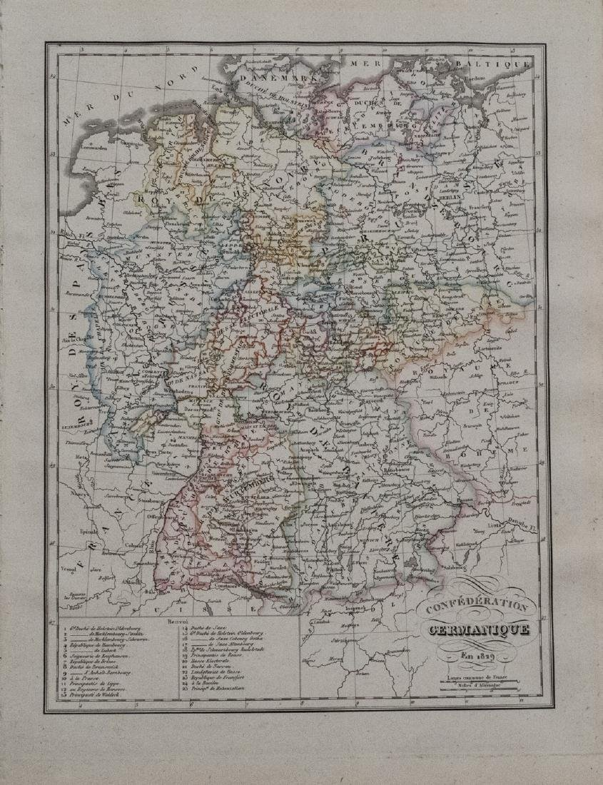 1829 Malte-Brun Map of Germany -- Confederation