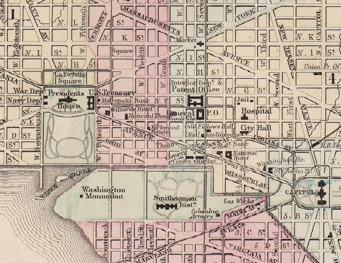 Plan of Washington, D.C., Mitchell 1872 - 2