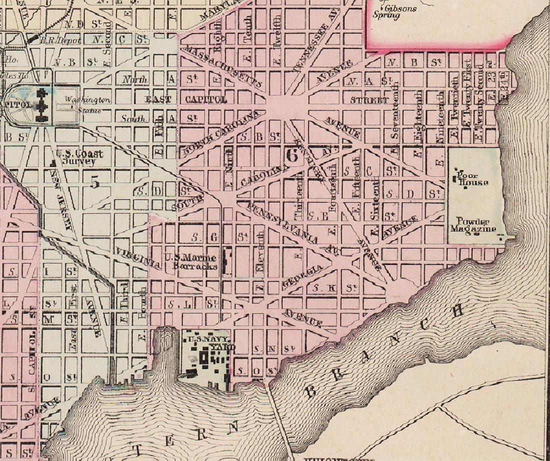 Plan of Washington, D.C., Mitchell 1872 - 4