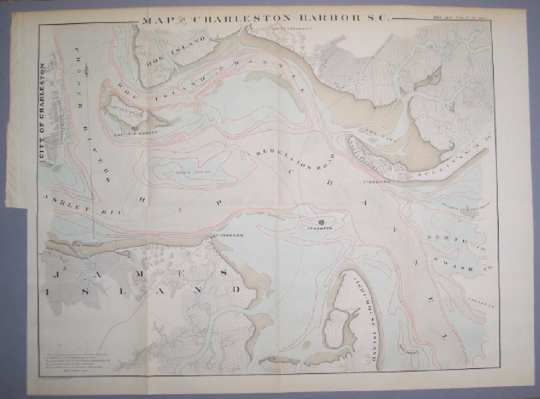 Map of Charleston Harbor S. C.