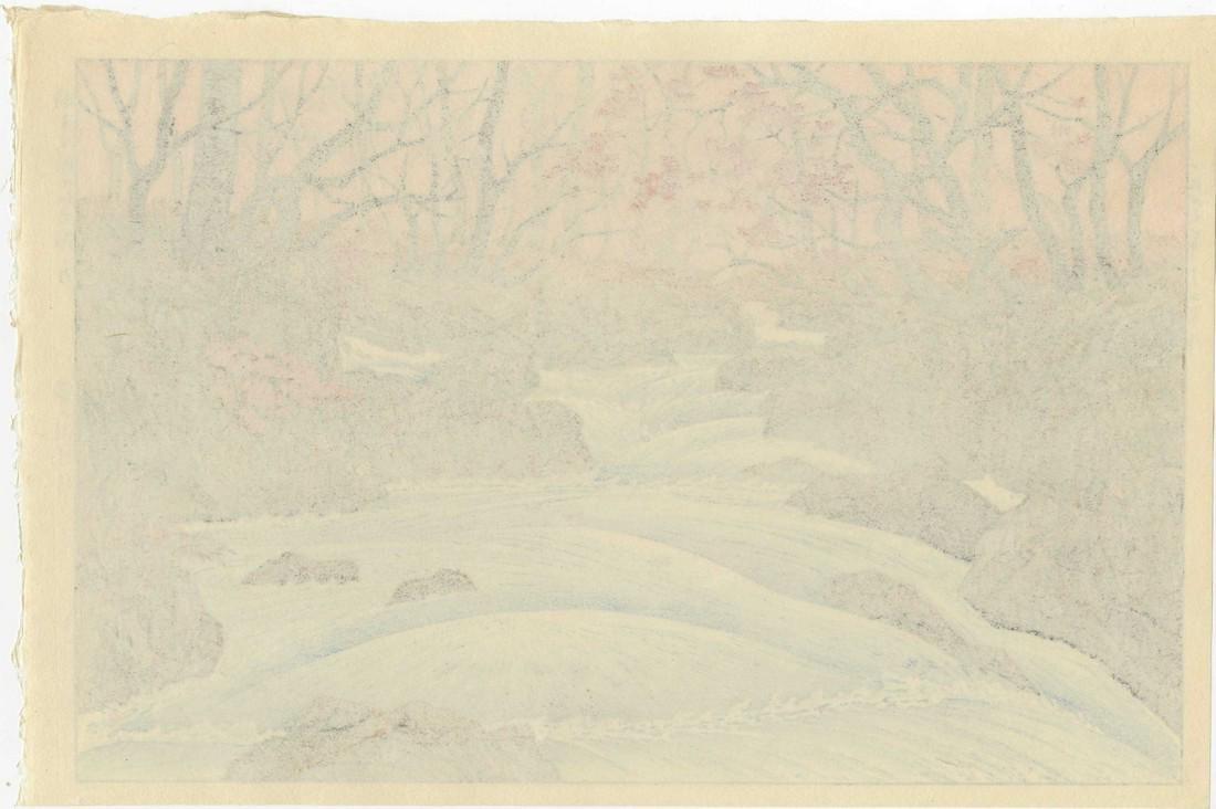 Takashi Ito Woodblock Autumn at Oirase - 2