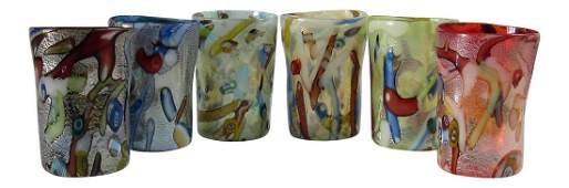 Custom Murano Drinking Glasses - Set of 6