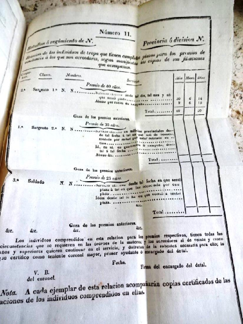 1827 Mexican Imprint Colecion De Decretos Military - 2