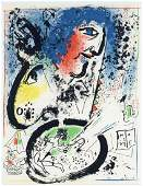 "Marc Chagall ""Self Portrait"" original lithograph"