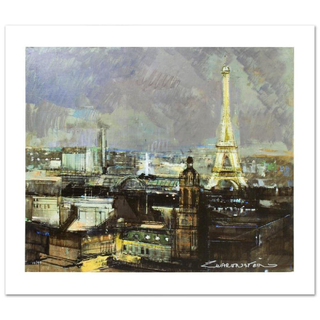 """""""Paris by Night"""" Limited Edition Giclee on Canvas by"""