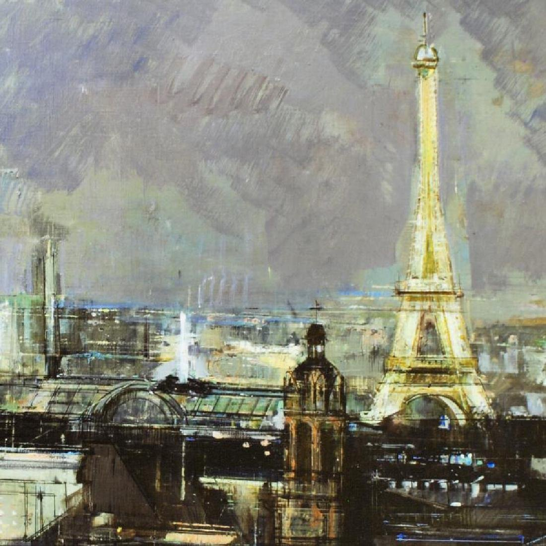 """""""Paris by Night"""" Limited Edition Giclee on Canvas by - 2"""
