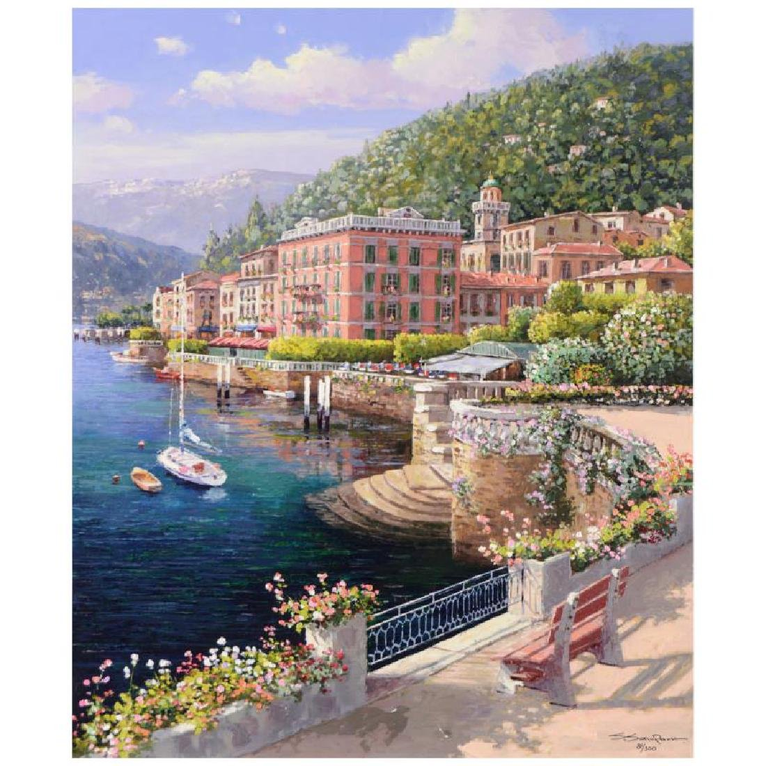 "S. Sam Park - ""Lakeside Bellagio"" from a Sold Out Hand"