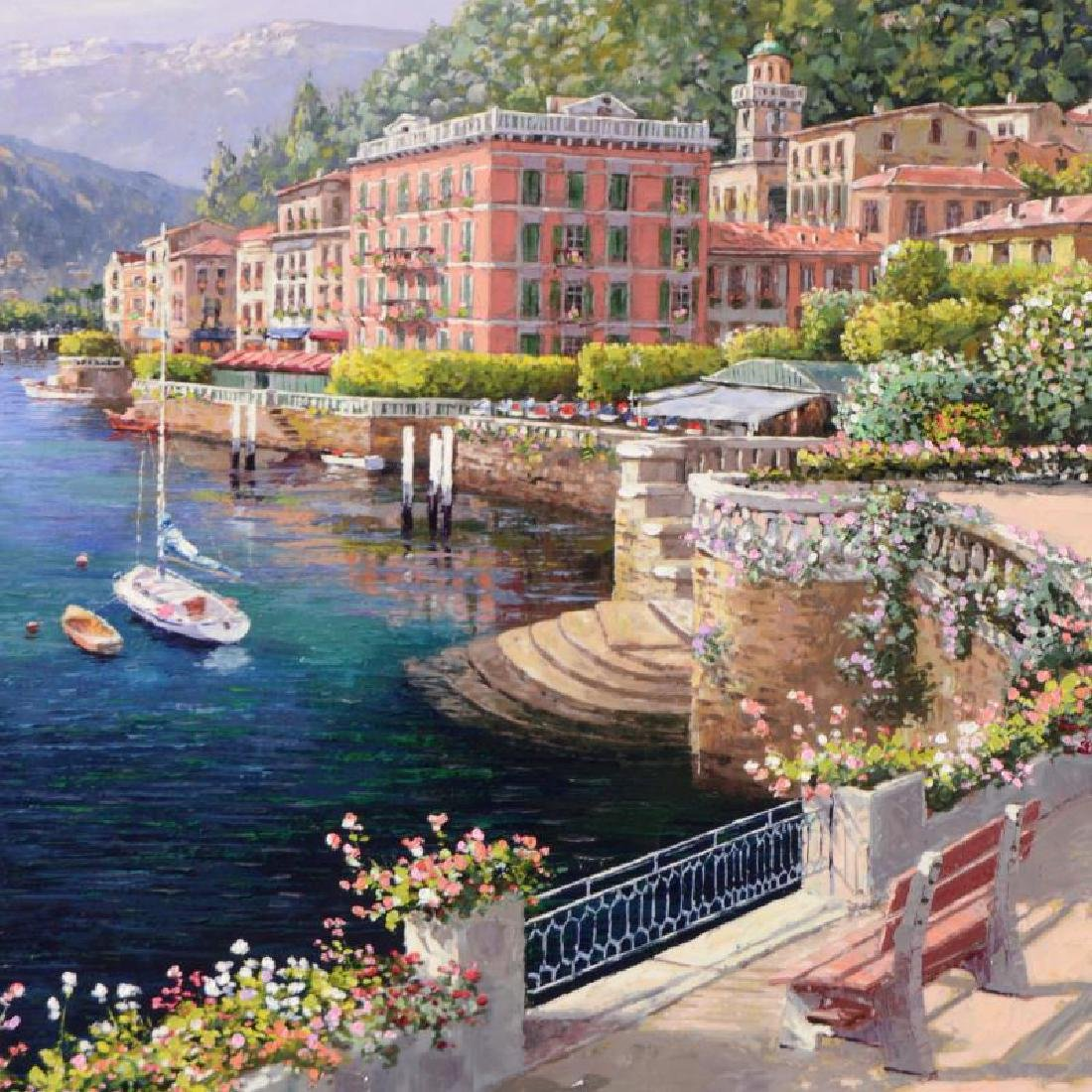 """S. Sam Park - """"Lakeside Bellagio"""" from a Sold Out Hand - 2"""