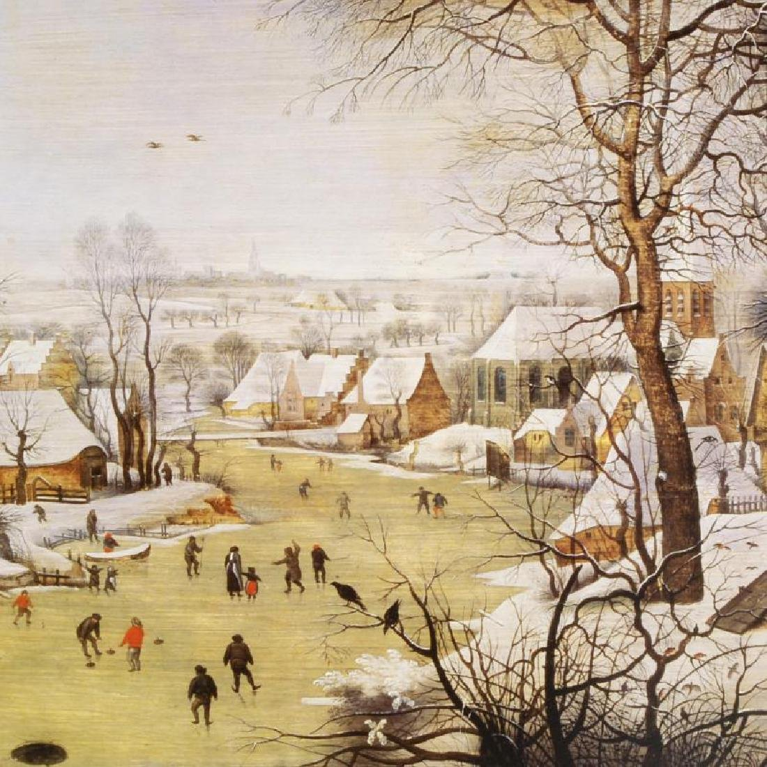 """""""Winter Landscape with Skaters and Bird-Trap"""" by Pieter - 2"""