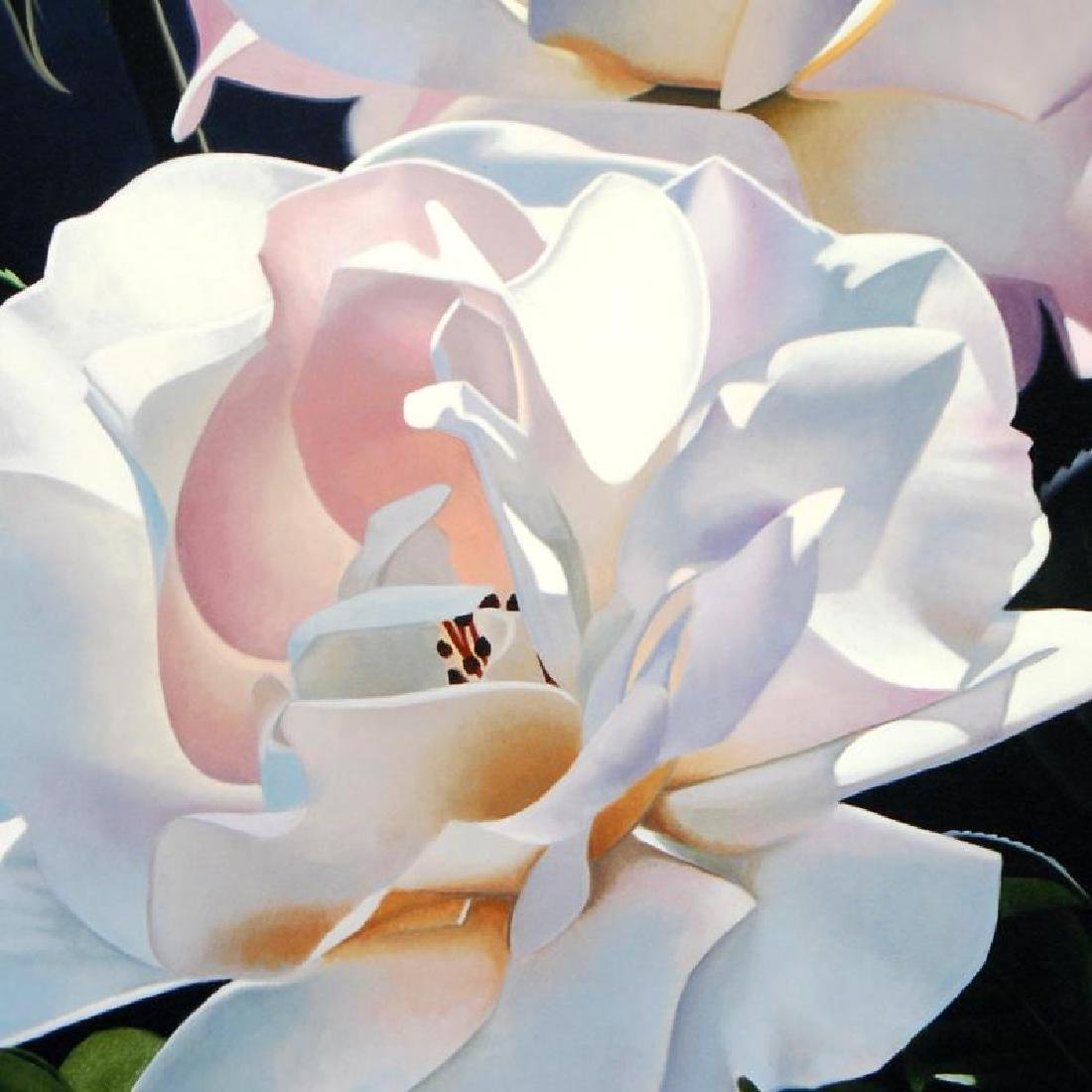 """Two White Roses"" Limited Edition Giclee by Brian - 2"