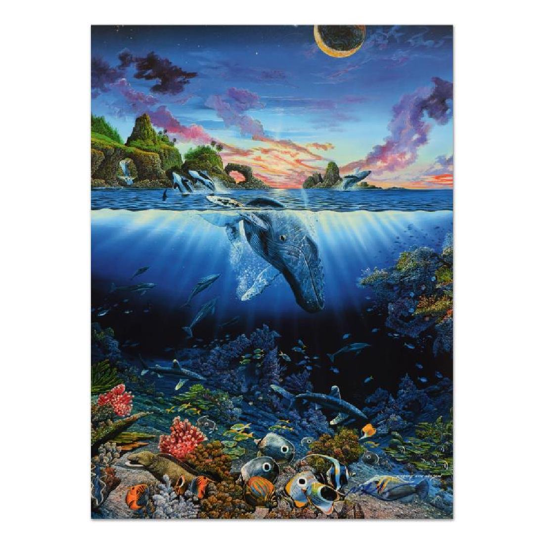 "Robert Lyn Nelson - ""Three Worlds"" Lithograph, Hand"
