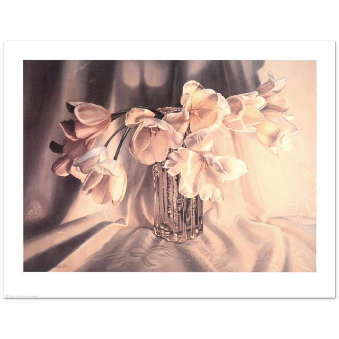 "Barbara Buer, ""Tulips"" Limited Edition Lithograph,"