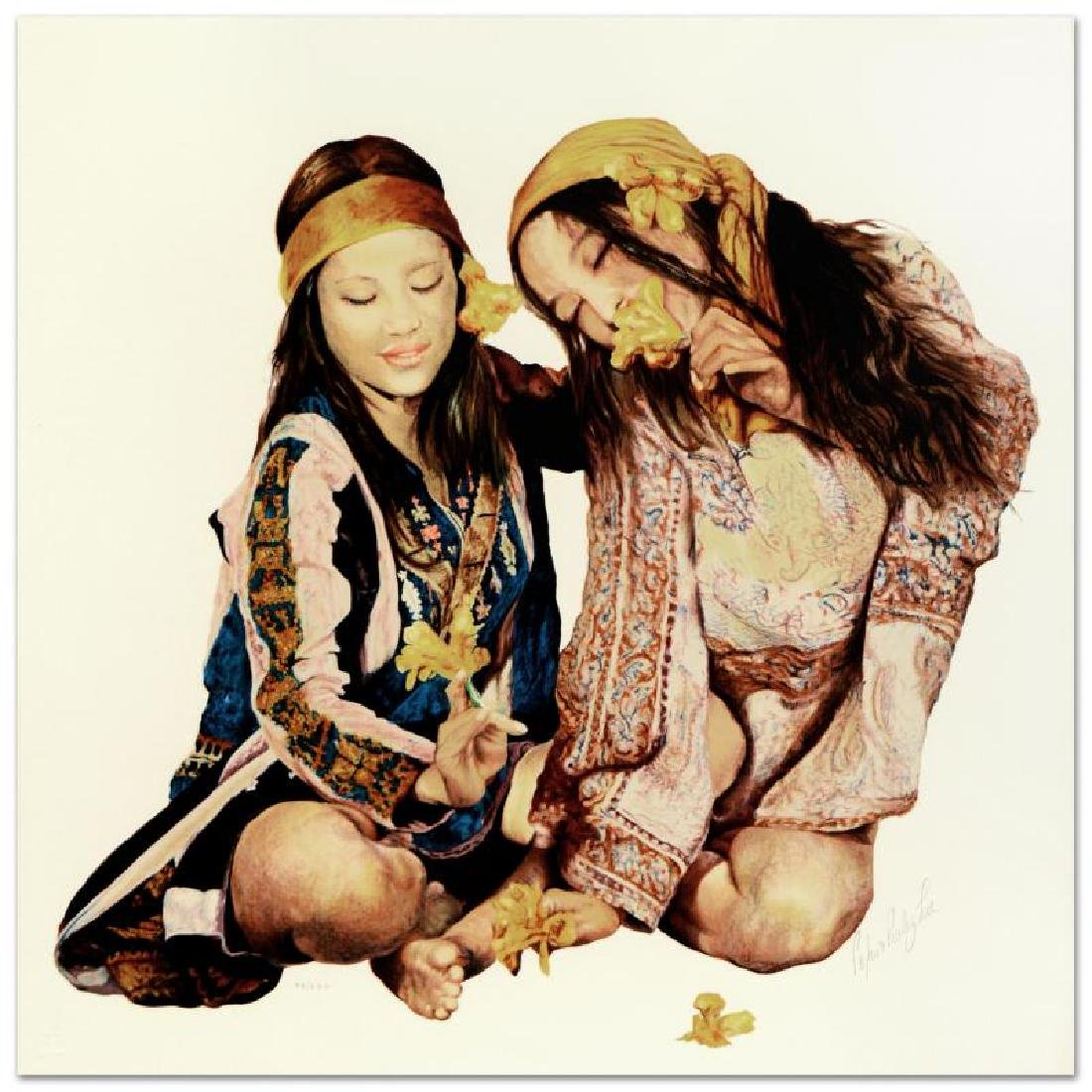 """Popo & Ruby Lee, """"Sisters"""" Limited Edition Serigraph,"""