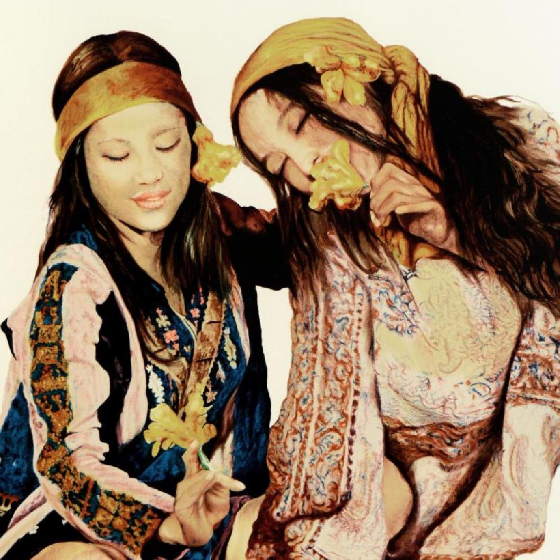 """Popo & Ruby Lee, """"Sisters"""" Limited Edition Serigraph, - 2"""