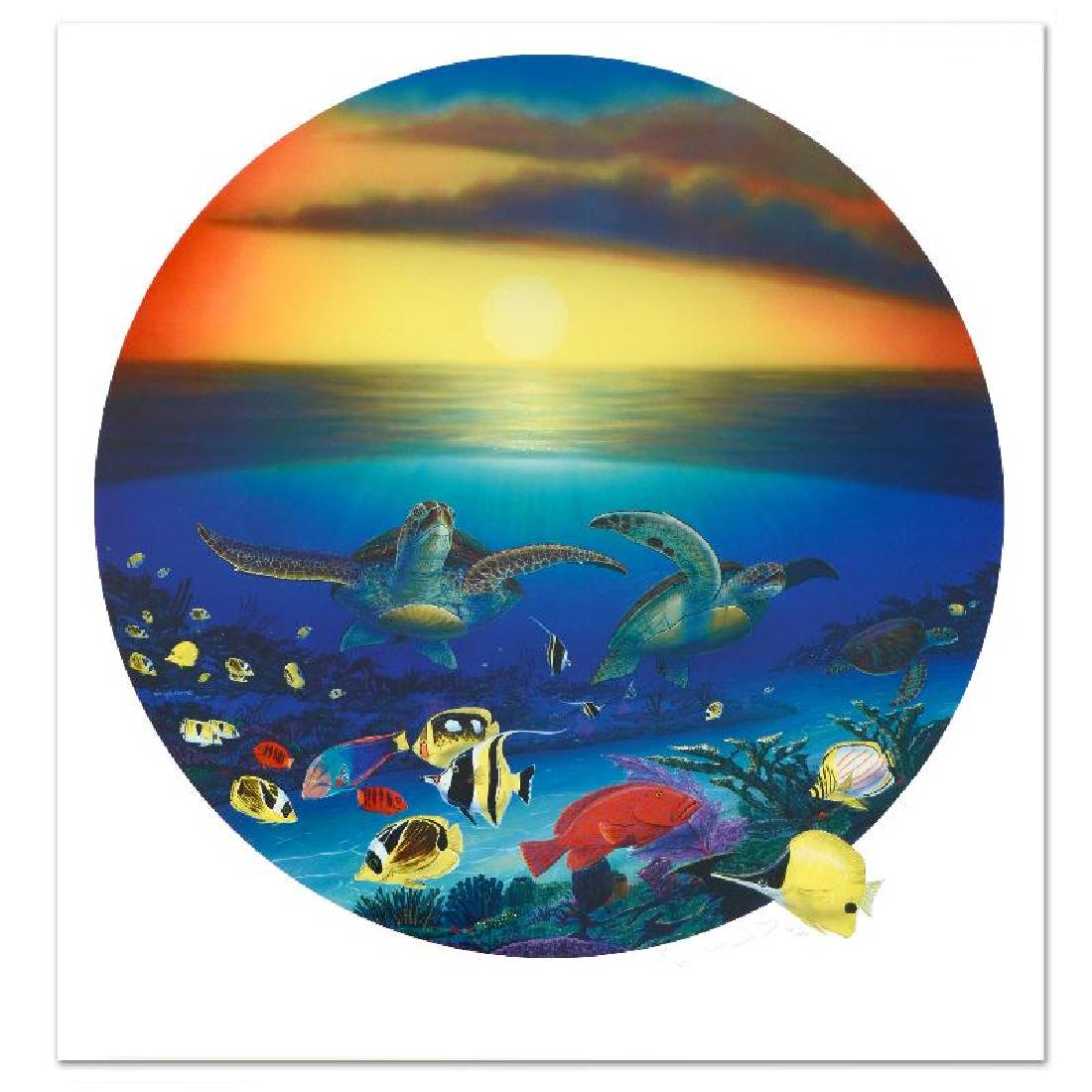 """""""Sea Turtle Reef"""" Limited Edition Lithograph by Famed"""
